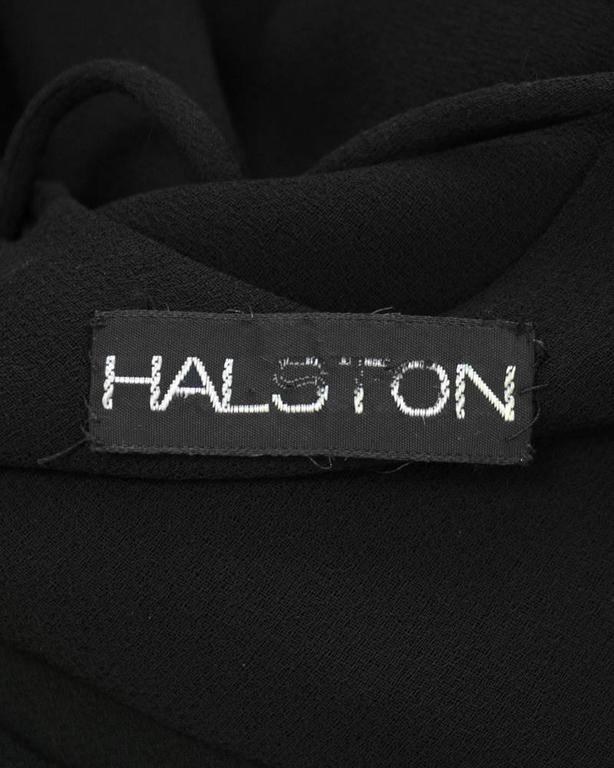 1970's Halston Double Strap Evening Dress  For Sale 1