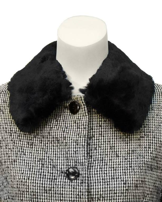1950's Jacques Griffe Tweed Jacket with Fur Collar 4
