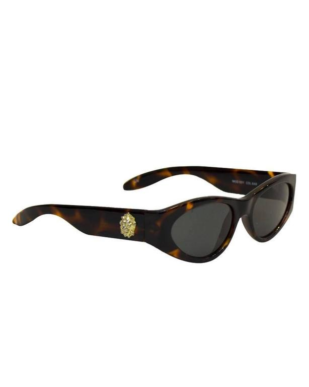 1980's Versace Faux Tortoise Sunglasses with Medallions 2
