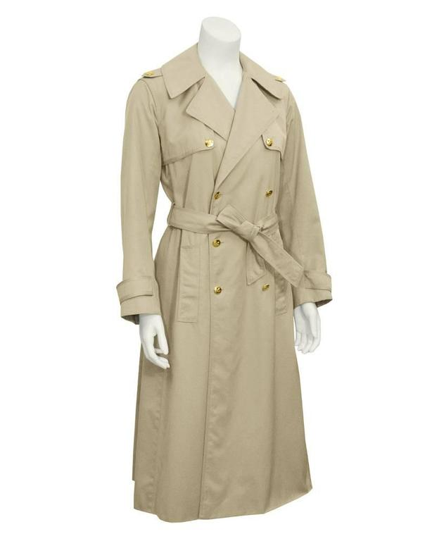 1970's Celine Sport Beige Trench Coat at 1stdibs