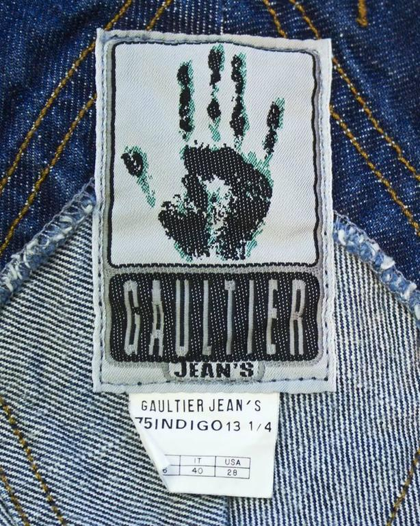 Gaultier Jeans Denim Bib and MIni Skirt For Sale 2