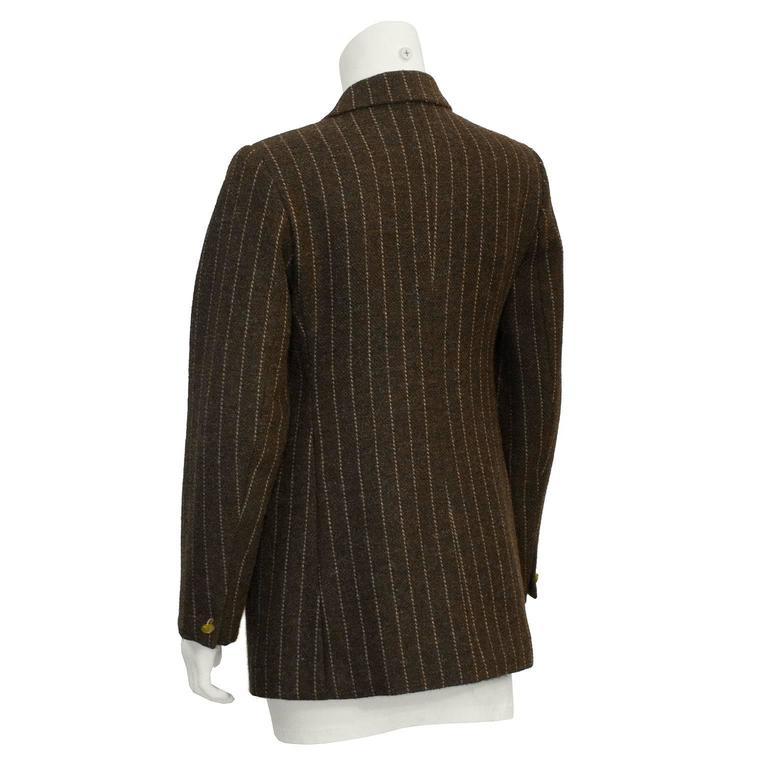 Black 1980's Vivienne Westwood Brown Wool Blazer  For Sale