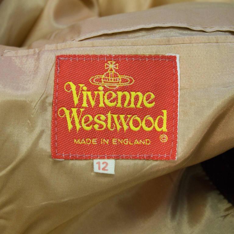 1980's Vivienne Westwood Brown Wool Blazer  For Sale 1