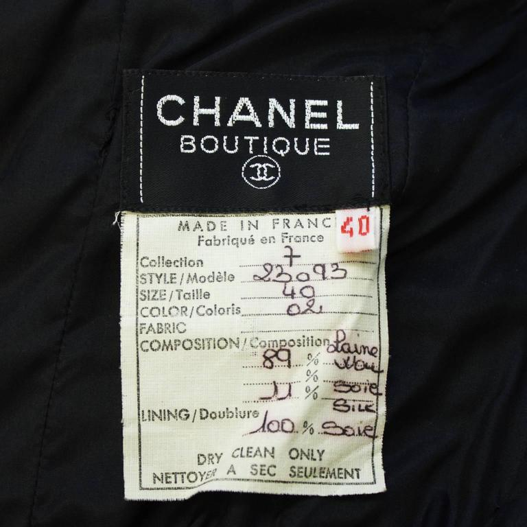 1980's Chanel Wool Jersey Strapless Gown  6