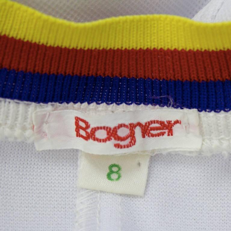 1960's Bogner White Tennis Dress 5