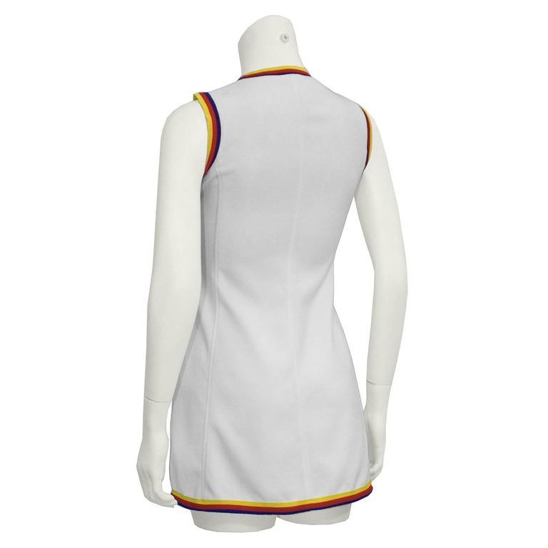 1960's Bogner White Tennis Dress 3