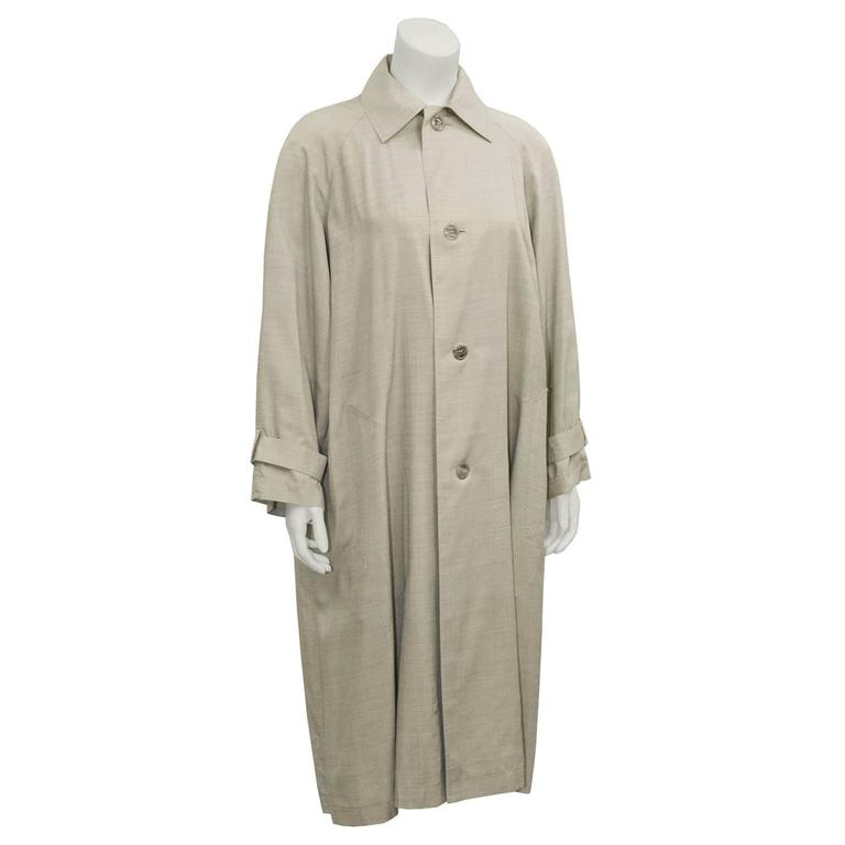 Brown 1960's Christian Dior Beige Trench  For Sale