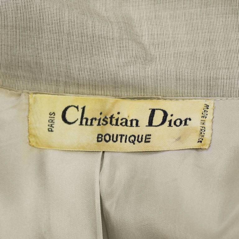 1960's Christian Dior Beige Trench  For Sale 1