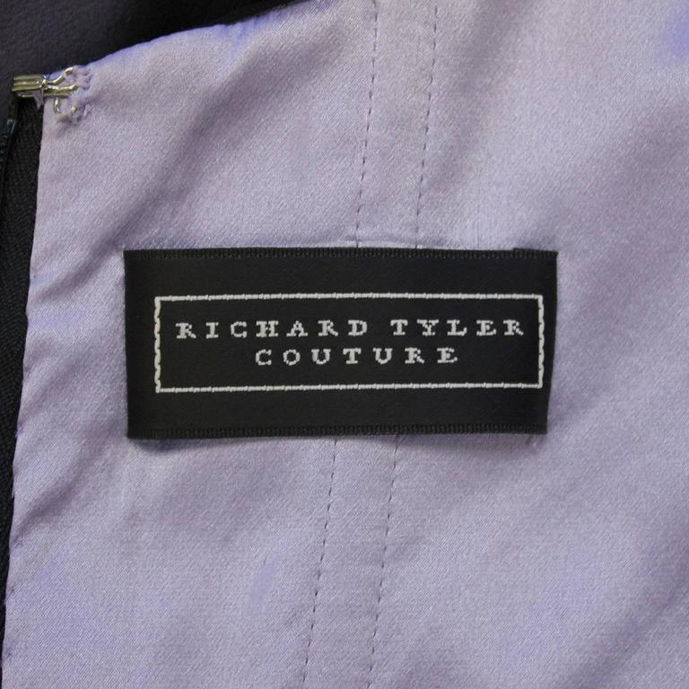Early Career Richard Tyler Couture Purple and Black Gown  6