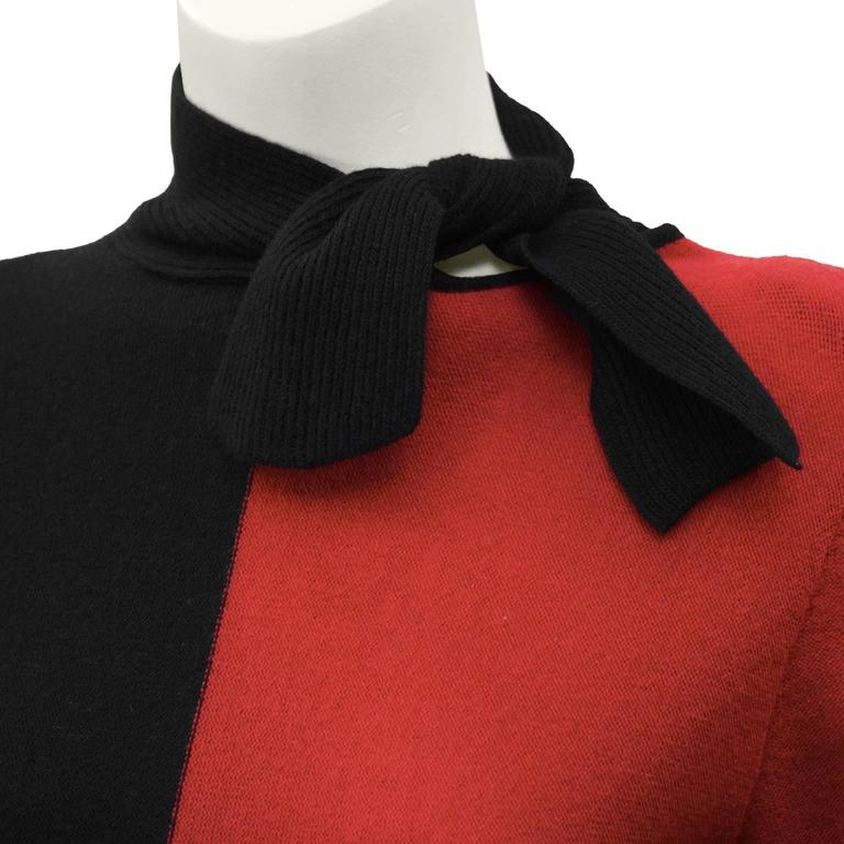 1980's Sonia Rykiel Red and Black Set  For Sale 1