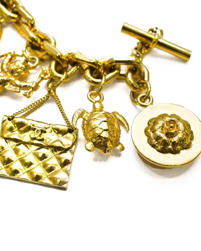 1990 s chanel gold plated charm bracelet at 1stdibs