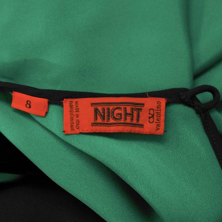 1990's Valentino Night Green and Black Gown  For Sale 2