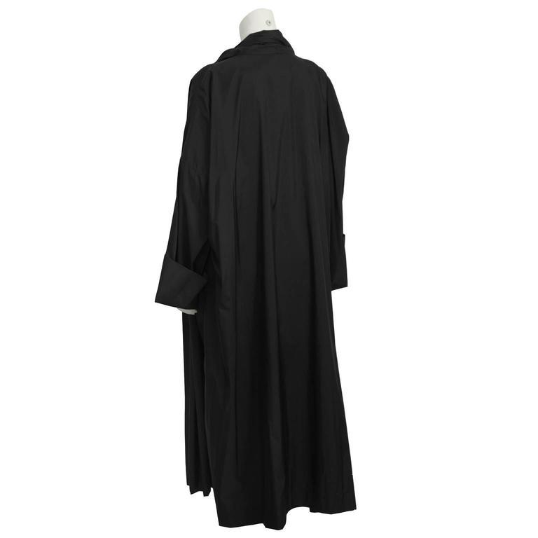 Women's or Men's 1990's Issey Miyake Black Oversized Windcoat  For Sale