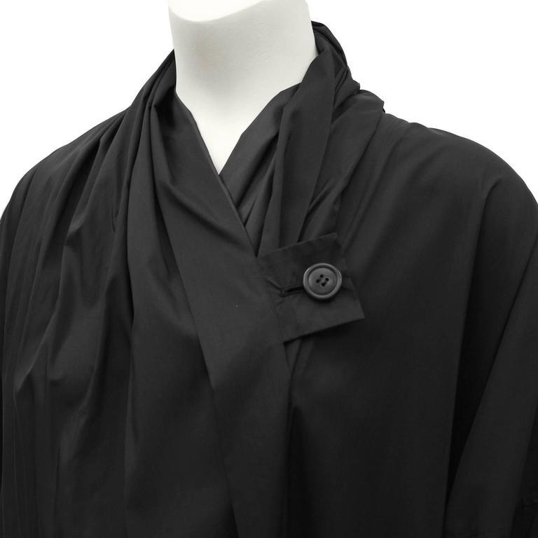 1990's Issey Miyake Black Oversized Windcoat  For Sale 1