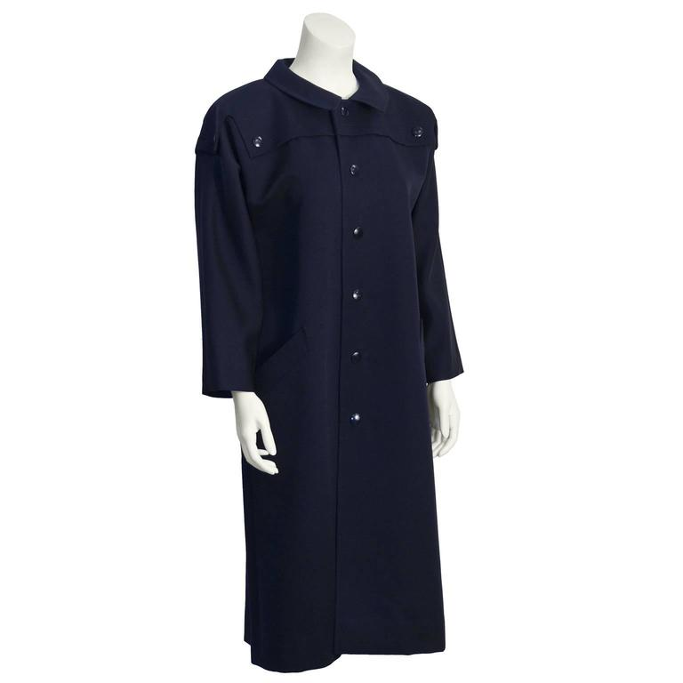 1970's Pierre Cardin Navy Trench  2