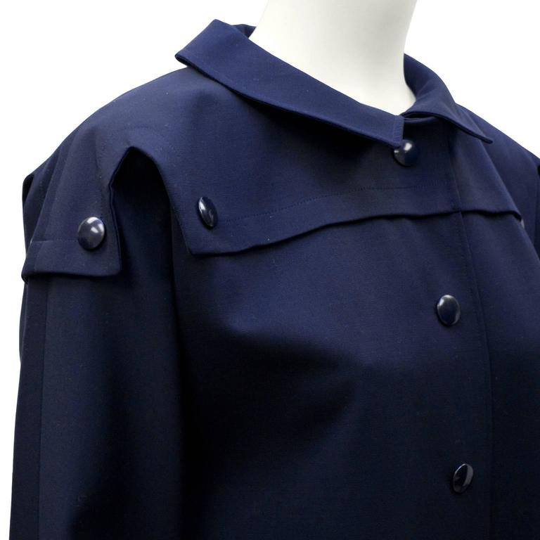 1970's Pierre Cardin Navy Trench  4