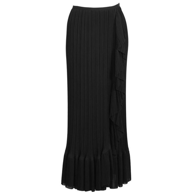 2000's Issey Miyake Black Pleated Skirt