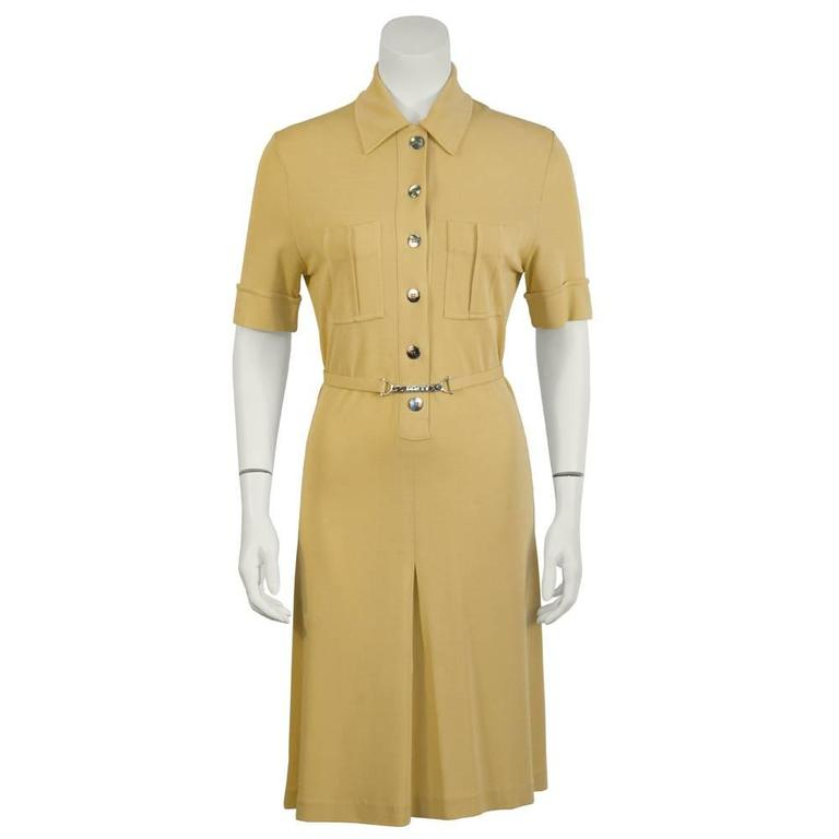 1970s Paco Rabanne Butterscotch Day Dress   1