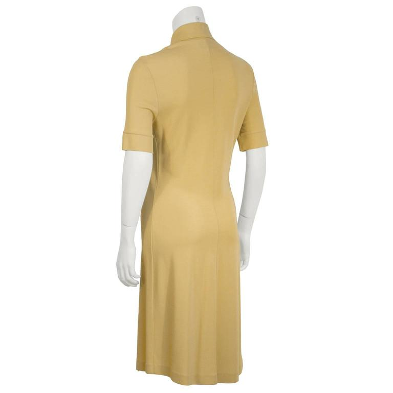 1970s Paco Rabanne Butterscotch Day Dress   3