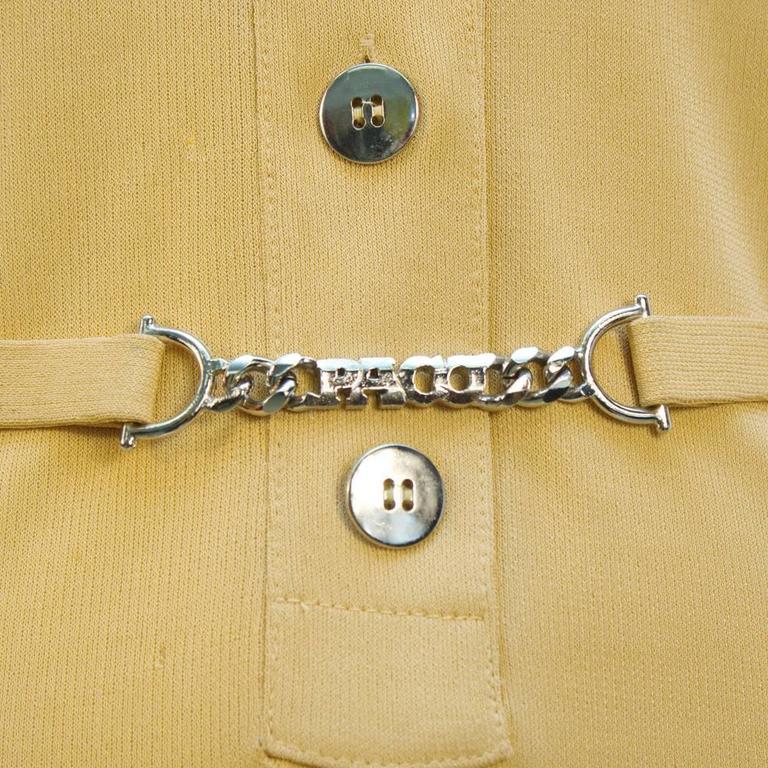 1970s Paco Rabanne Butterscotch Day Dress   4