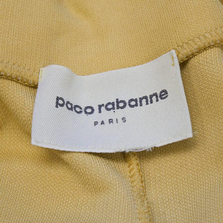 1970s Paco Rabanne Butterscotch Day Dress   6