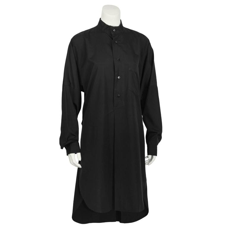 1980's Plantation/Issey Miyake Black Tunic Dress 2