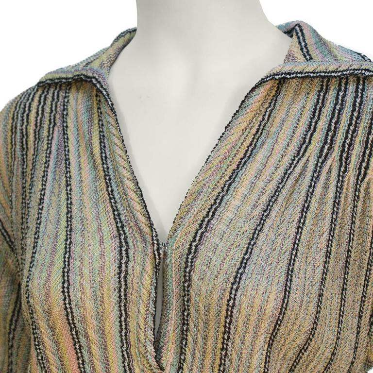 1970's Missoni Multicoloured Knit Dress with Decorative Belt 4