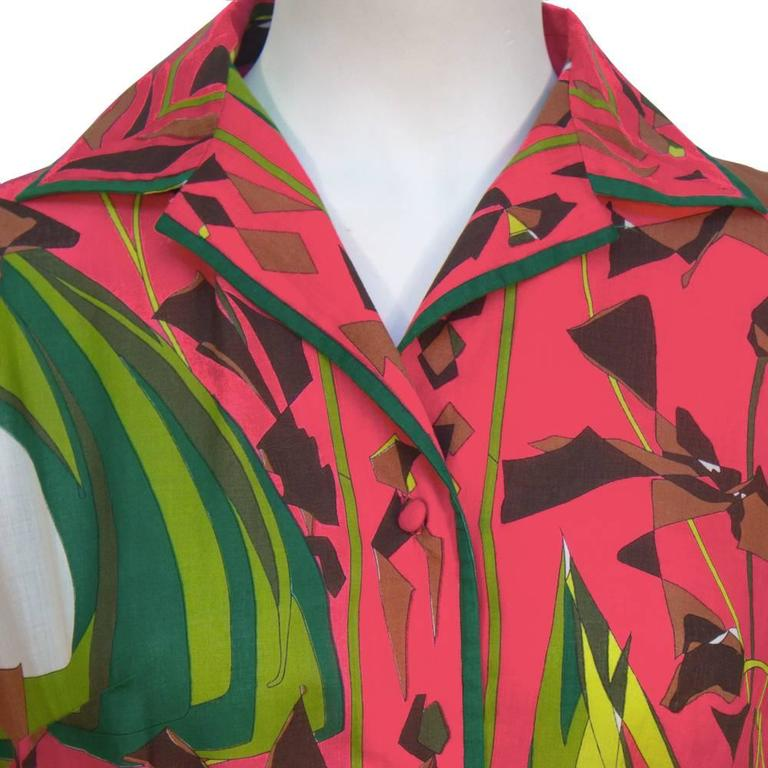 Women's 1970's Emilio Pucci Printed Cotton Shirt and Skirt Set For Sale