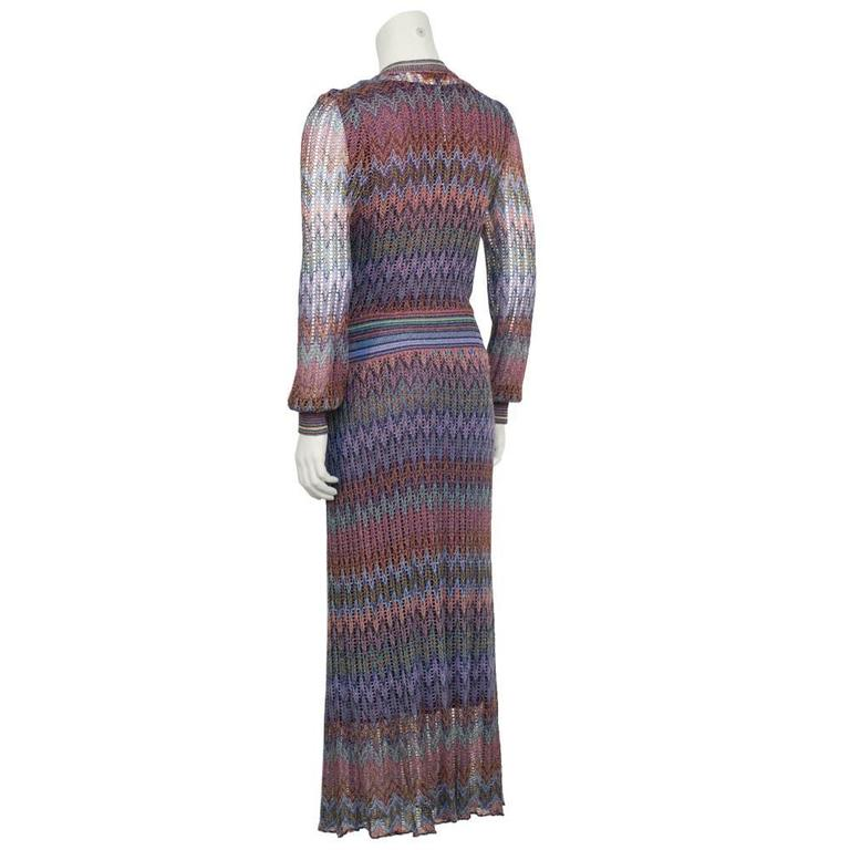 1970's Missoni Open Knit Maxi Dress 3