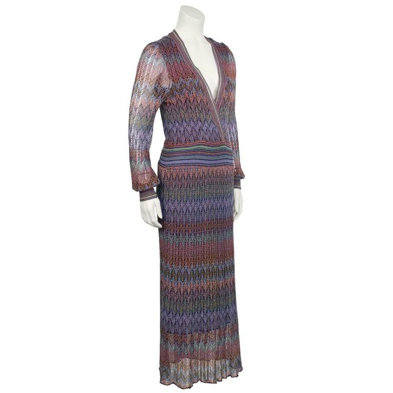 1970's Missoni Open Knit Maxi Dress 2