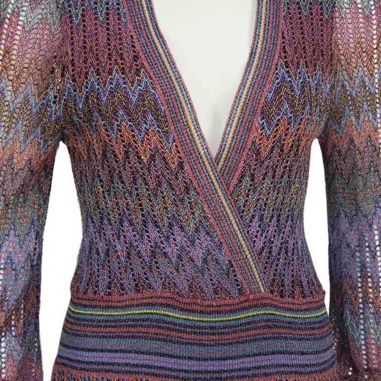 1970's Missoni Open Knit Maxi Dress 4