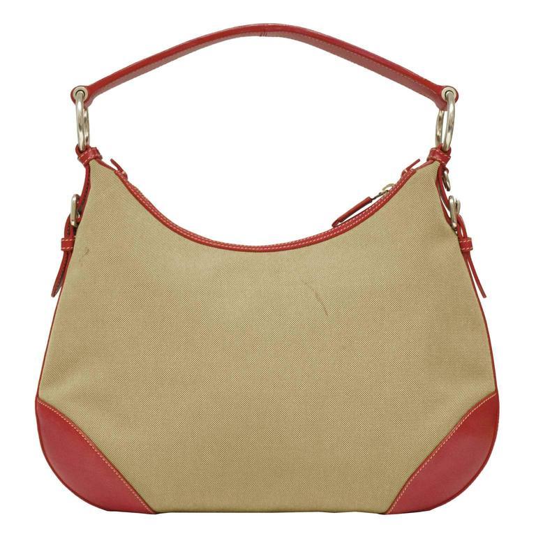 2000 Prada Hobo Bag with Red Trimming 3