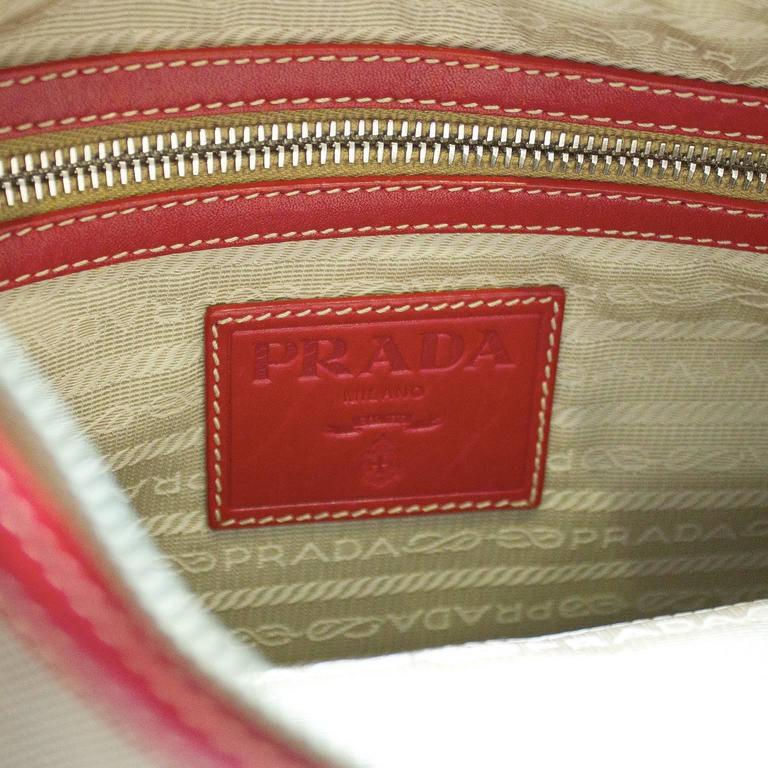 2000 Prada Hobo Bag with Red Trimming 7
