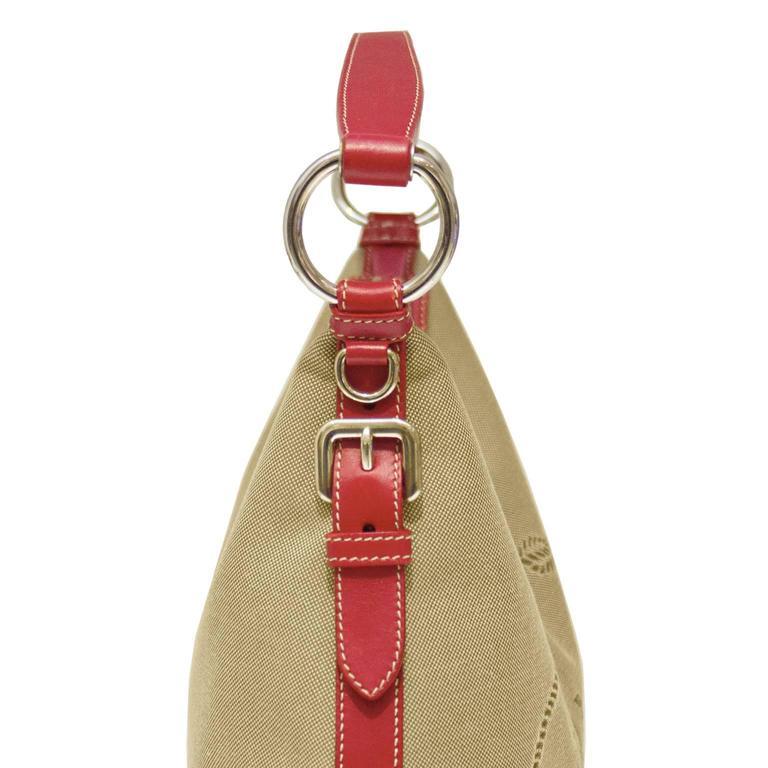 2000 Prada Hobo Bag with Red Trimming 4