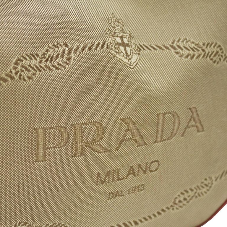 2000 Prada Hobo Bag with Red Trimming 5