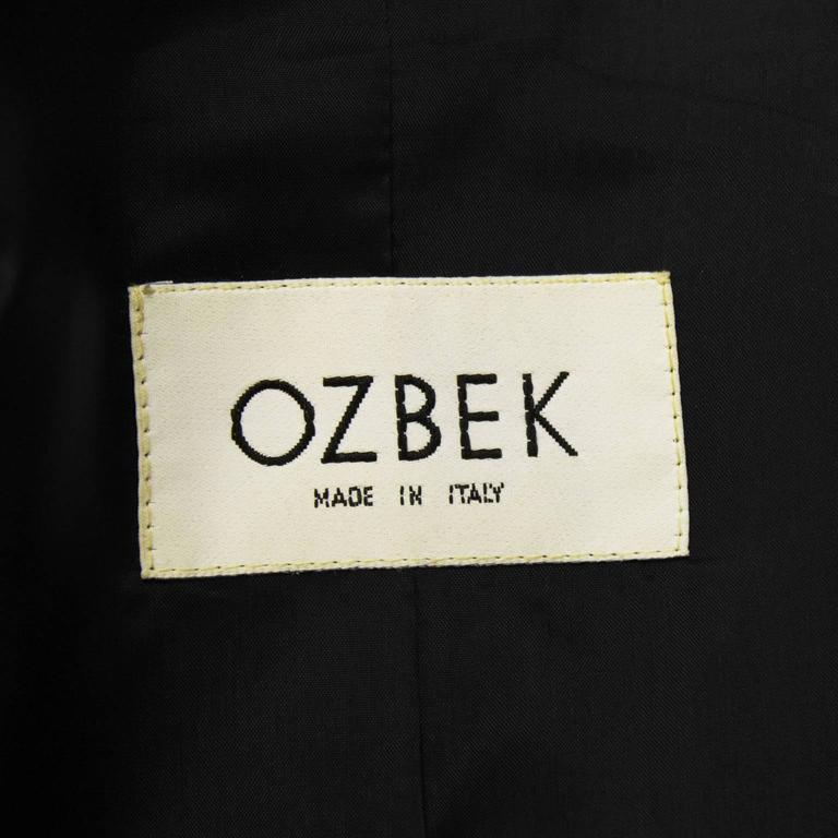 1980's Ozbek Blazer with Feathers 6