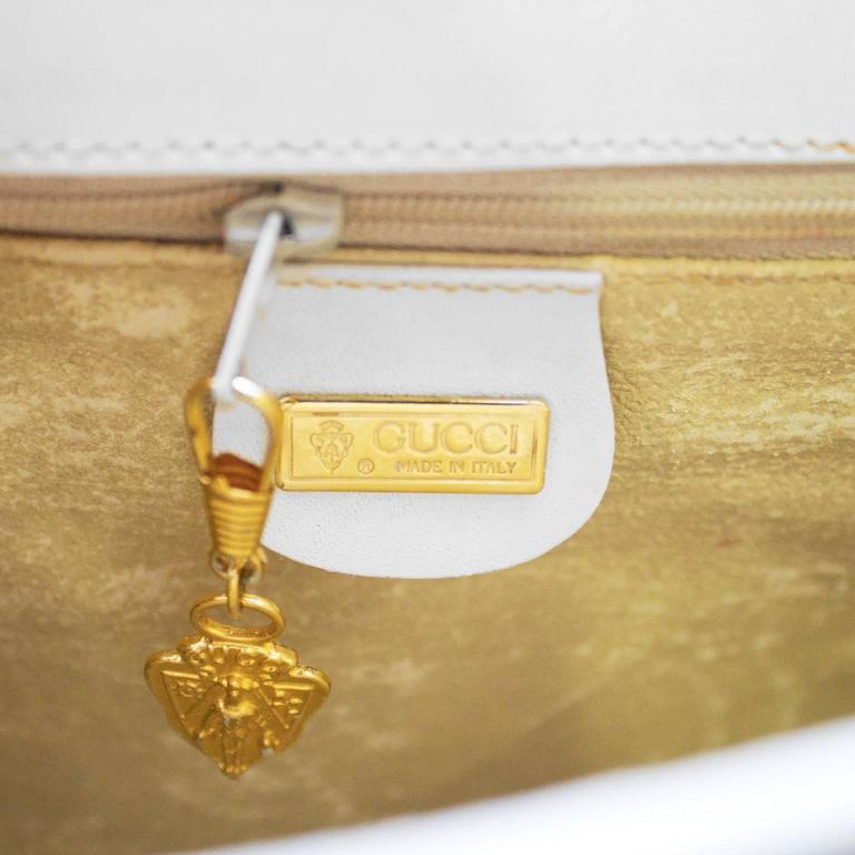 1970's Gucci White Messenger Bag  For Sale 1
