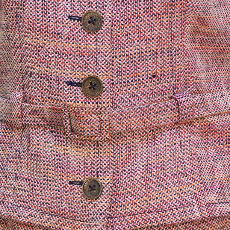 1960's Guy LaRoche Tweed Skirt Suit In Excellent Condition For Sale In Toronto, Ontario