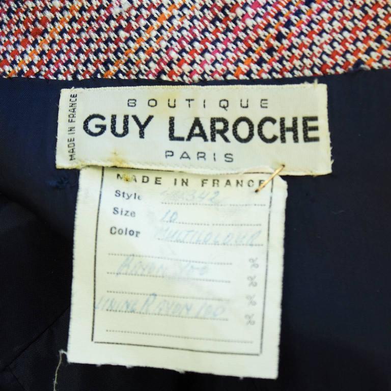 Women's 1960's Guy LaRoche Tweed Skirt Suit For Sale