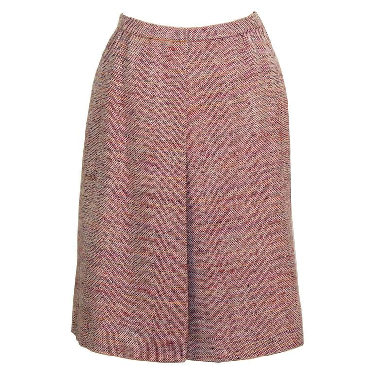 Brown 1960's Guy LaRoche Tweed Skirt Suit For Sale