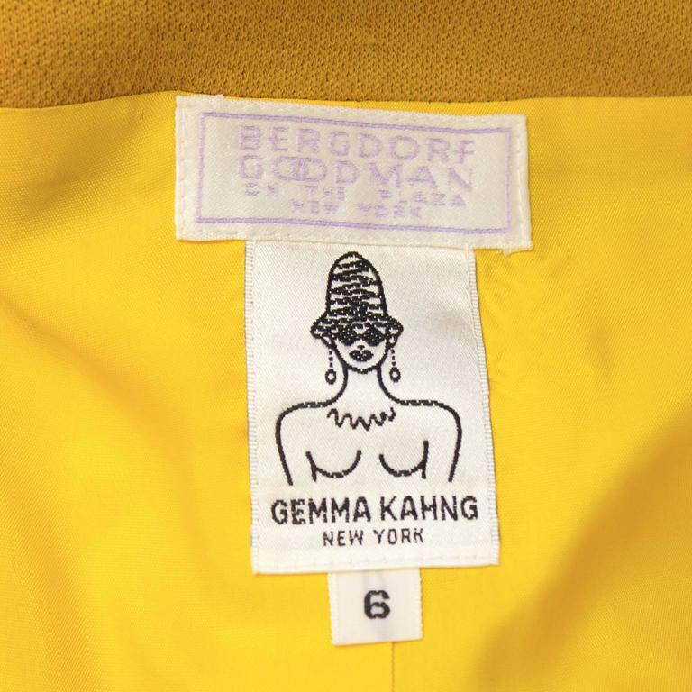 Circa 1990 Gemma Kahng Multi Color Skirt Suit For Sale 3