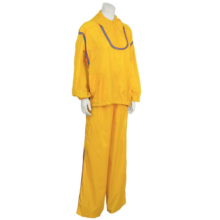 1970's The Beene Bag Yellow Windbreaker Outfit 2