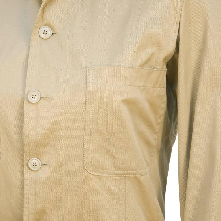1990's Yves Saint Laurent YSL Rive Gauche Safari Jacket  In Excellent Condition For Sale In Toronto, CA