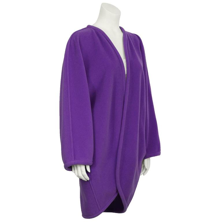 1980's Ungaro Purple Cocoon Jacket For Sale at 1stdibs