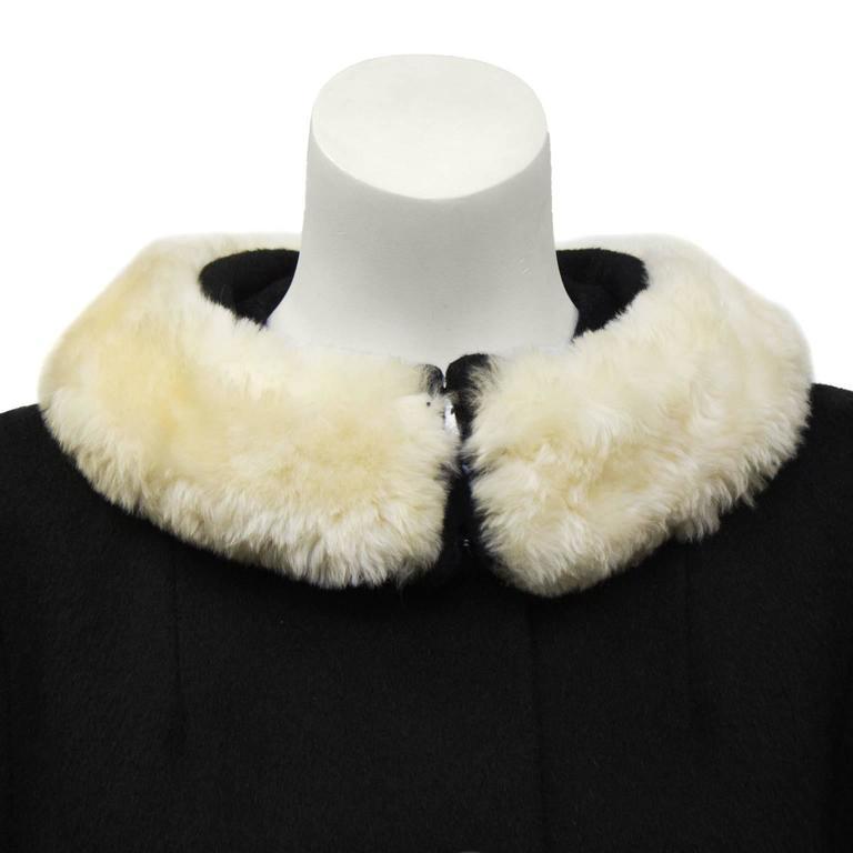 1960's Lilli Ann Black Wool Swing Coat  4