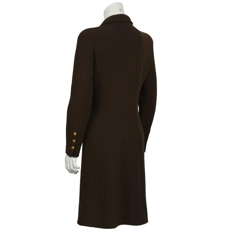 Fall 1996 Chanel Brown Wool Coat Dress 3