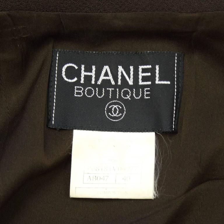 Fall 1996 Chanel Brown Wool Coat Dress 7