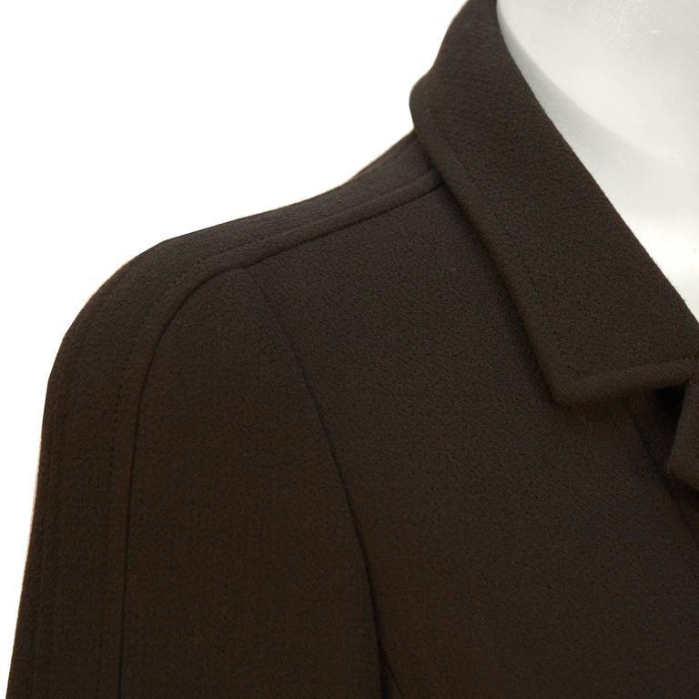Fall 1996 Chanel Brown Wool Coat Dress 6