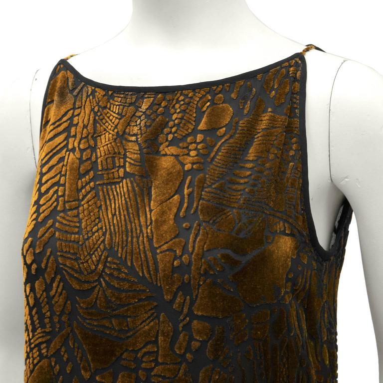 1980's Christian LaCroix Devoré Bronze Sleeveless Dress & Shawl 5