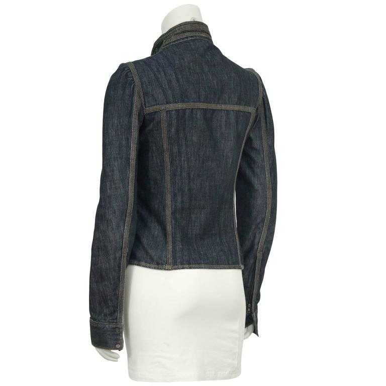2002 Tom Ford Era Gucci Fitted Jean Jacket  3